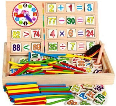 Math Counting Wooden Sticks Kids Learning Numbers Children Operation Box Game Uk • 10.99£