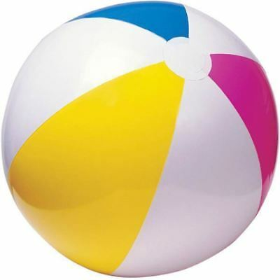 20  / 51cm INFLATABLE BEACH BALL SEA SWIMMING POOL HOLIDAY WATER TOY TY4307 • 1.85£