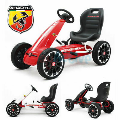 Licensed Abarth Kids Ride On Racing Pedal Go Kart Rubber Tyres Adjustable Seat • 99.99£