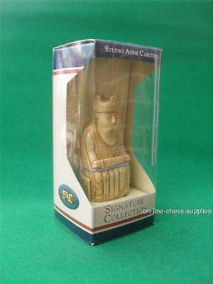 Studio Anne Carlton Isle Of Lewis White King Chess Piece In Presentation Box • 9.95£