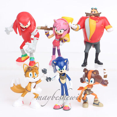 Sonic The Hedgehog Knuckles Tails 6 Pcs Action Figure Model Kids Toy Cake Topper • 8.99£