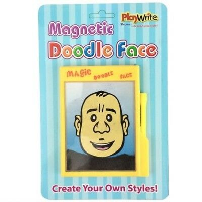 Magic Magnetic Doodle Face Iron Filings Drawing Board Toy Big Hairy Harry Pocket • 2.99£