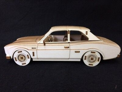 Laser Cut Wooden MK1 Ford Escort 3D Model/Puzzle Kit • 24.99£