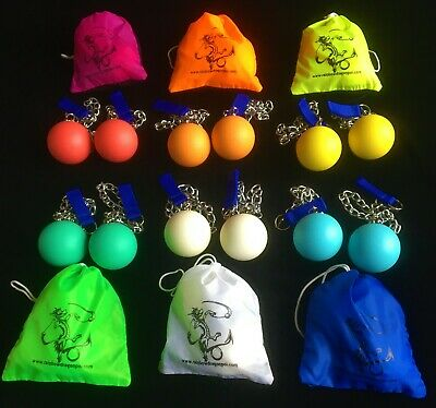 70mm Link Chain 'Stage Poi' By Rainbow Dragon With Bag - Ideal For Fire Practice • 21.95£