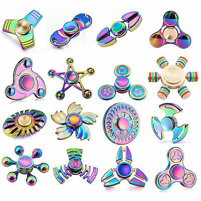 Fidget Finger Spinner Hand Spin Titanium EDC Bearing Focus Stress Toy Rainbow UK • 3.95£