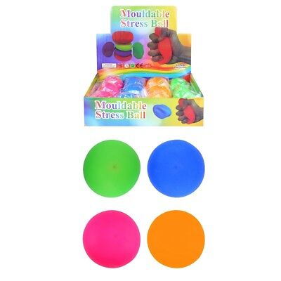 Stretchy Stress Mould Bounce Ball Relax Anxiety Relief Kids Adults Playing Toy • 5.99£