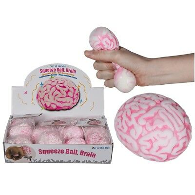 Brain Shaped Squeezable Ball - Splatballs Relieve Stress Toy Halloween Party Fun • 7.99£