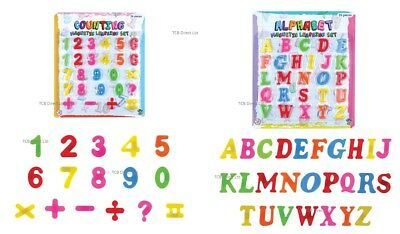 Kids Learning Teaching MAGNETIC Toy Letters & Numbers Fridge Magnets Alphabet • 3.39£