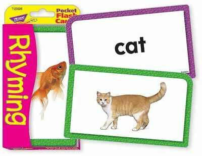 TREND Kids Childrens RHYMING Pocket Flash Cards • 3.99£