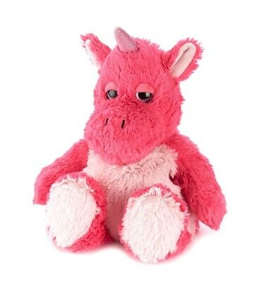 Warmies Cozy Microwavable BRIGHT PINK UNICORN Lavender Scented Heatable Toy • 15.96£