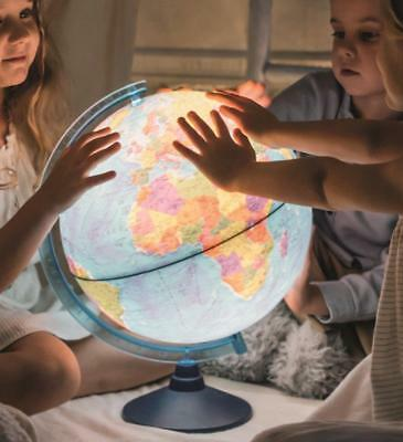 Exerz Cable-Free Illuminated World Globe LED Light Up Globe Dia 21CM 25CM 32CM • 26.99£