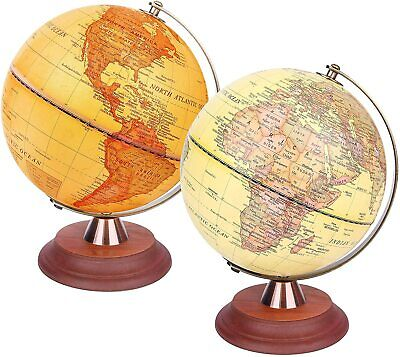 Exerz Illuminated World Globe 2 In 1 LED Light Up Antique Globe Dia 20CM 25CM • 24.99£