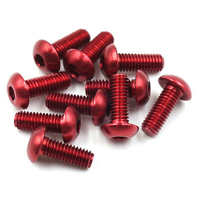 Aluminium 7075 Red M3 Countersunk & Button Head RC Bling!!!! • 5.95£