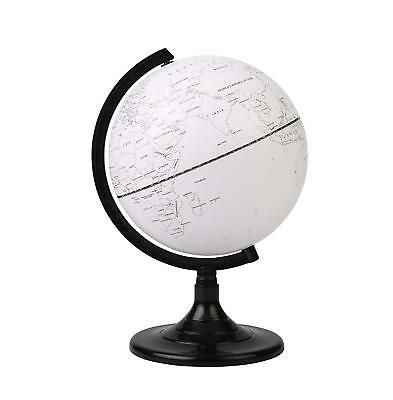 Exerz Blank DIY Desktop Globe Educational Swivel World Globe Dia 20CM • 13.99£