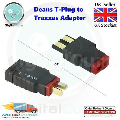 2pcs Deans T-Plug To Traxxas Adapter Male Female Battery Connector - TRX RC • 7.15£