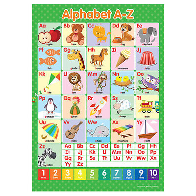 A3 Alphabet ABC's A-Z Poster English Wall Chart • 3.50£