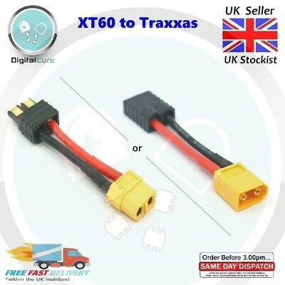 XT60 To Traxxas Adapter Lead Cable Male Female Battery Connector - TRX RC • 4£