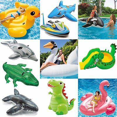 Inflatable Ride On Swimming Pool Beach Toy Float Rider Lilo • 5.69£