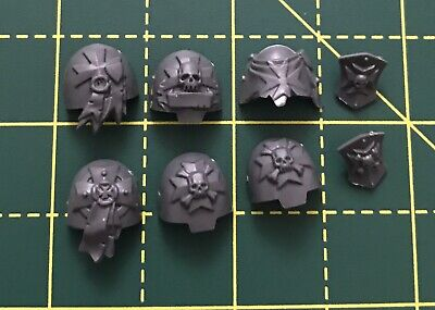Black Templar Upgrade Terminator Shoulder Pads Warhammer 40k Space Marines Bits • 4.50£