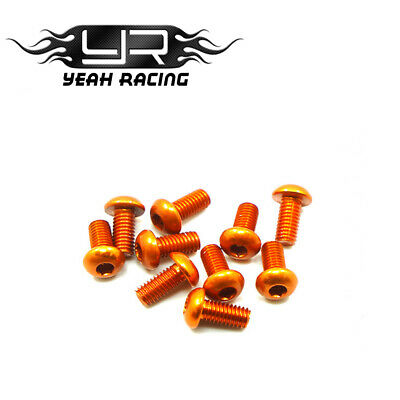 Aluminium 7075 Orange M3 Countersunk & Button Head RC Bling!!!! • 5.95£