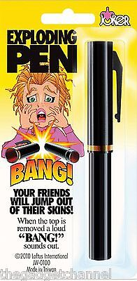 Fake Bang Surprise Pen Joke Gag Prank Trick Boys Toy Gadget Novelty Present • 4.09£