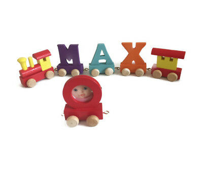 Colourful Wooden Name Train Letters For Personalised Children Name • 1.50£