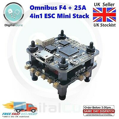 20mm Omnibus F4 OSD Flight Controller Barometer 25A 4in1 ESC Stack - Whoop • 39£
