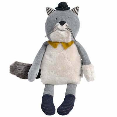 Moulin Roty Les Moustaches Fernand Grey Cat 31cm • 32.80£