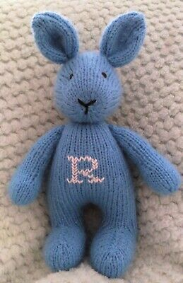 Hand Knitted Bunny/personalized Toy/knitted/soft Animal /soft Toy/stuffed Toy • 17£
