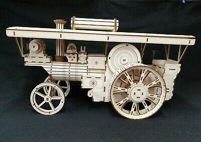 Laser Cut Wooden Showman/Farm Traction Engine 3D Model/Puzzle Kit • 59.99£