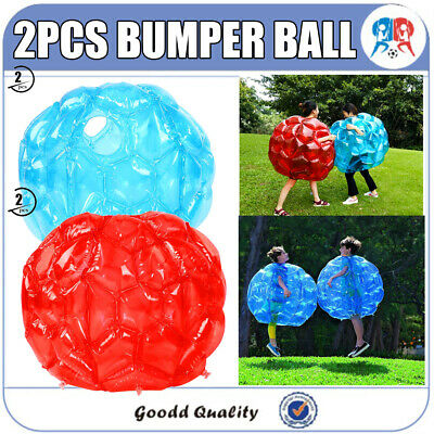 2X Kids Inflatable Buddy Bumper Ball Bounce Sumo Suits Fun Game Zorb Red OR Blue • 23.99£