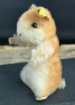 Vintage 50's Steiff Hamster, Goldy, Ear Tag And Label • 86£