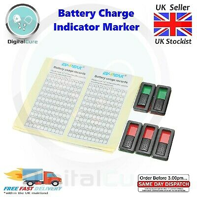 5pcs Battery Charge Status Marker Indicator Tabs - LiPo NiCd NiMh RC Quad Plane • 4.95£