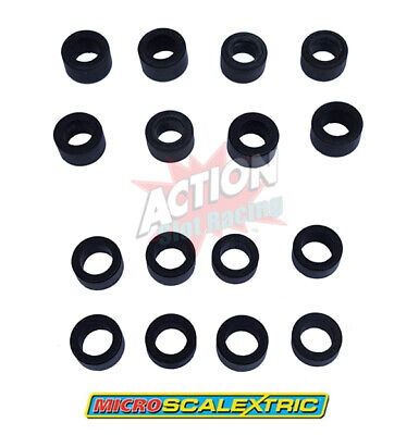 Genuine Micro Scalextric 1:64 Spare Set Of Tyres - 8 Front & 8 Rear • 15.99£