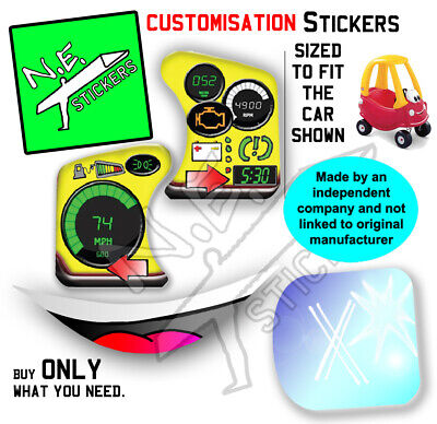 Replacement Stickers TO FIT Little Tikes Cozy Coupe Toy Car Ride-on Bubble Push • 7.30£