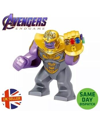 Thanos Mini Figure Gauntlet Gold Armour Avengers End Game Block Cheap UK Seller • 4.99£