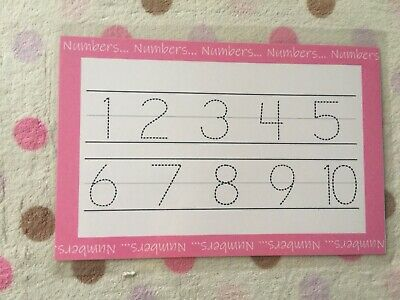 Numbers Tracing Mat, Learning Mat, Educational, Childrens Learning, Numbers 1-20 • 3.50£