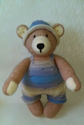 Hand Knitted Teddy Bear/knitted/soft Animal /soft Toy/stuffed Toy • 40£