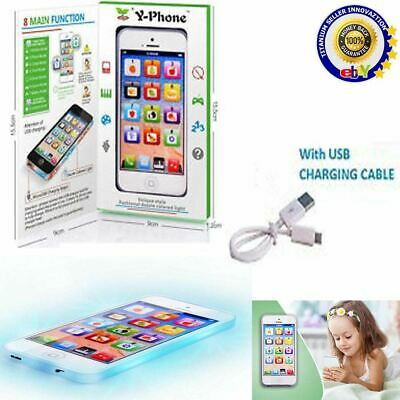 Toy Phone Baby Childrens Y-Phone Educational Learning Kids IPhone TOY 4s 5 Gift • 5.19£