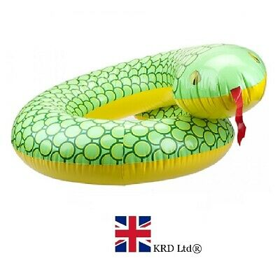 36  GIANT INFLATABLE SNAKE SWIMMING RING Water Float Raft Pool Fun Beach NEW UK • 5.94£