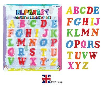 MAGNETIC ALPHABET LETTERS Kids Fridge Magnets Numbers Teaching Learning Toy Set • 4.43£