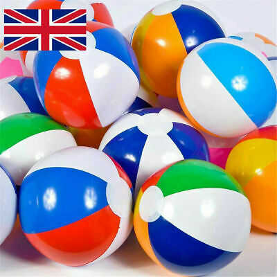 20  / 50 Cm Colourful Inflatable Sea Beach Ball Holiday Swimming Pool Party Ball • 1.99£
