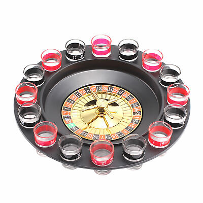 Casino Party Glasses Games Spin & Shot Roulette Wheel Drinking Set For Adult • 6.99£