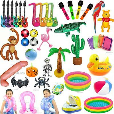 Inflatable Toys Kids Hen Party Swim Props Blow Up Musical Instruments Animals • 9.99£