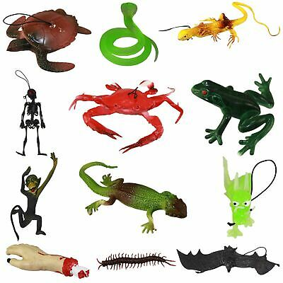 Rubber Insects Soft Reptile Animals Children Plastic Party Gift Skeleton Toys • 1.99£
