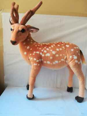 New Large Cuddly Deer Reindeer Standing Animal Plush Soft Stuffed Toy UK SELLER • 19.99£