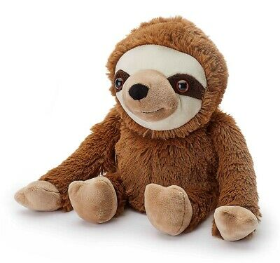 Warmies Cozy Plush Fully Microwavable BROWN SLOTH Lavender Scented Heatable Toy • 17.95£
