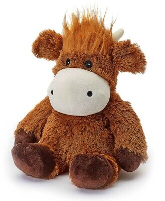 Warmies Cozy Plush Fully Microwavable HIGHLAND COW Lavender Scented Heatable Toy • 14.44£