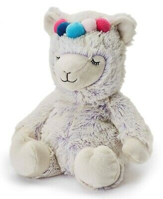 Warmies Cozy Plush Lilac Marshmallow Llama Microwavable Lavender Scented Toy • 15.95£