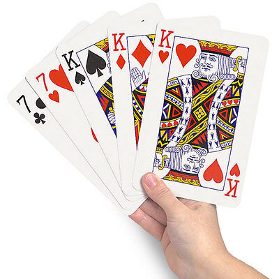 New Giant A3 Playing Cards Jumbo A4 Outdoor Magic Big Party Game Cards • 9.99£